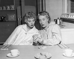 LUCILLE BALL and VIVIAN VANCE, Lucy and Ethel try Fortune-telling!!