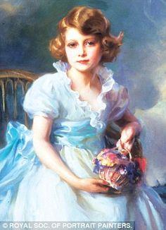 Queen Elizabeth II aged 7 (1933) by Philip Lazlo