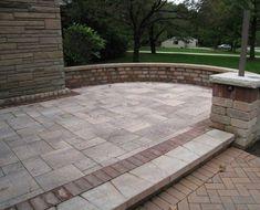 concrete and brick pathway - Google Search Brick Pathway, Pathways, Concrete, Landscaping, Patio, Google Search, Outdoor Decor, Brick Path, Yard