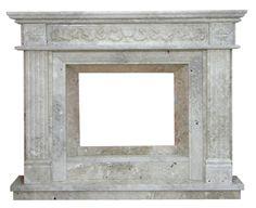 kominek angielski  klasyczny marmurowy portal kominkowy