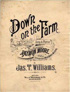 Sheet Music - Down on the farm