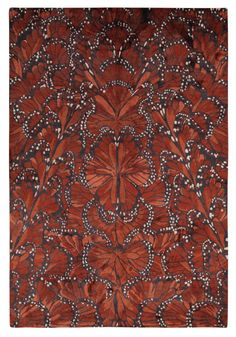 Absolutely incredible. Monarch Fire  by Alexander McQueen for The Rug Company