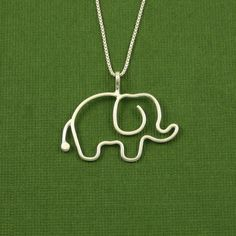 Elephant Necklace Sterling Silver 18 inch Chain by Dragonfly65, $45.00