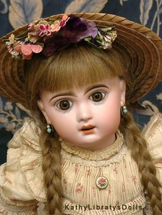 "20.5"" Gorgeous Jumeau Bebe Antique French Doll In Original Chemise & from kathylibratysantiques on Ruby Lane"