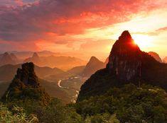 Moon Mountain, Yangshuo, Guangxi, China