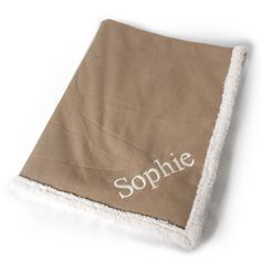 Tan Personalized Dog Blanket