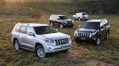 2013 Toyota Prado (front to rear): Kakadu, VX, GXL and GX