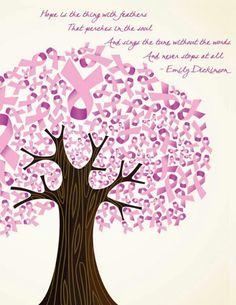 Cancer ribbon tree