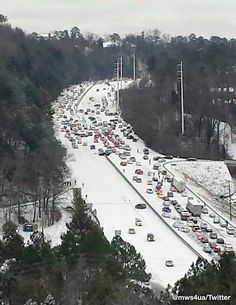 """Have to love Snow in the South(Alabama)! Keep in mind it wasn't even predicted by NWS or locally. 2"""" fell in short period at 18° onto warmer roads creating a sheet of ice."""