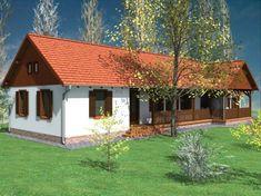 Építsünk házat és védjük a környezetet! - !Kispromo2 - Építészet - Ház Small Cottage Interiors, Modern Cottage, Cottage Homes, Old Country Houses, Small House Exteriors, Weekend House, Cottage Exterior, Village Houses, Facade House