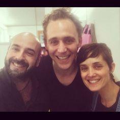 daviddtsfx: Montse, Tom & me!!! Last day!!! We will miss you Tom!!! #tomhiddleston #crimsonpeak #hauntedpeak #guillermodeltoro #makeupartist...