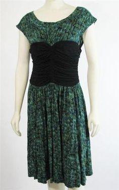 Plenty Tracy Reese Bustier Dress Green Black Size L