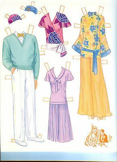 THE Great Gatsby Paper Dolls BY Marilyn Henry Uncut | eBay
