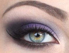 Purple / lilac wedding eye make up