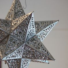 Silver Punched Tin, Medium Sized Stars