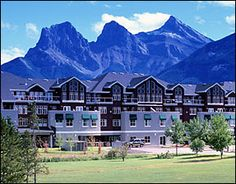 My favorite place...Canmore AB, with the three sisters in the background.  Breathtaking.