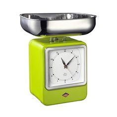 Wesco Retro Scale with Clock, Lime Green | Prezola - The Wedding Gift List