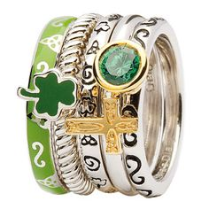 Celtic Stacking Rings