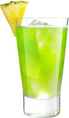 MIDORI Illusion is a classic cocktail made with MIDORI. Rum Punch Recipes, Vodka Recipes, Midori Cocktails, Vodka Cocktails, Pineapple Juice, Pineapple Rum Drinks, Melon Liqueur, Pinnacle Vodka, Midori Melon