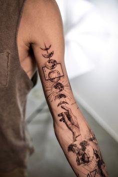 Forearm Tattoo Quotes, Cool Forearm Tattoos, Leg Tattoos, Arm Band Tattoo, Body Art Tattoos, Cool Chest Tattoos, Best Sleeve Tattoos, Tattoo Sleeve Designs, Tattoo Designs Men