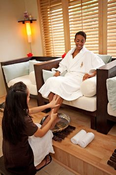 Pedicures and foot treatments can be enjoyed in our spa's new Finishing Touches Suite. Pin provided by Elbow Beach, Bermuda: http://www.mandarinoriental.com/bermuda/luxury-spa/