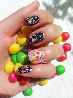 Stamping nail art. Lesly plates.