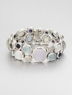 David Yurman Pavé Diamond Accented Semi-Precious Multi-Stone Bracelet