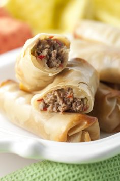 Philly Cheesesteak Baked Egg Rolls Recipe | Wishes and Dishes