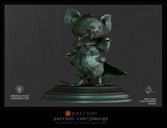 3D Fan art for the Mouse Guard of David Petersen, Jean-Baptiste Monge on ArtStation at https://www.artstation.com/artwork/49yDL