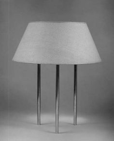 Lamp by Benjamin Baldwin made with brass complimented a linen shade in 1940  (The Metropolitan Museum of Art, i.e. The Met Museum, 2017)
