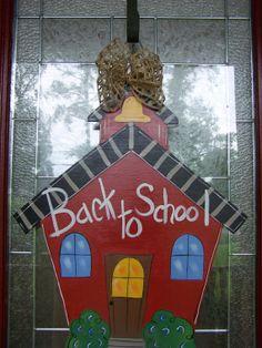 Back To School Door hanger School House by by samthecrafter, $35.00