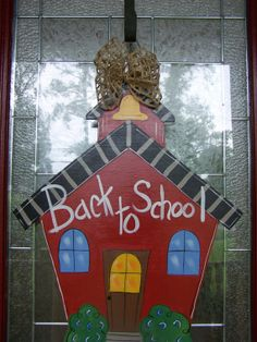 Back To School Door hanger School House by by samthecrafter, $35.00