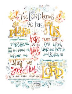 My FAV Bible Verse in a pretty little picture. His promise to us in this verse has gotten me through SO many difficult times! Scripture Art, Bible Scriptures, Bible Quotes, Bible Art, Devotional Bible, Kids Bible, Daily Scripture, Jeremiah 29, Spiritual Inspiration