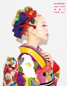 AMIAYA×紅一点 Furisode collection Those hairstylings... - Tanuki+Kimono