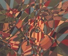 L'ALOUETTE EN COLÈRE Huile sur toile (61 cm X 51 cm) de l'artiste peintre Gabriel Landry.  www.gabriellandry.com Alouette, Gabriel, Creations, Abstract, Artwork, Painting, Oil On Canvas, Summary, Archangel Gabriel