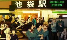 Tags: Baccano!, DURARARA!!, Miria Harvent, Orihara Izaya, Kida Masaomi, Sonohara Anri, Kishitani Shinra, Heiwajima Shizuo, Orihara Mairu, Kadota Kyouhei, Karisawa Erika, Saburou Togusa, Orihara Kururi, Awakusu Akane, Ryuugamine Mikado, Yagiri Namie, Yumasaki Walker, Sturluson Celty, Yagiri Seiji, Simon Brezhnev, Harima Mika, Tanaka Tom, Isaac Dian