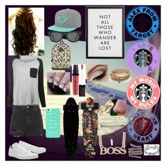 """Random Set for a tag // Read Desc"" by kirra-joy-brooks-02 ❤ liked on Polyvore featuring Converse, Leon & Harper, Topshop, Laura Mercier, Vivien Frank Designs, Jules Smith, Kate Spade, Wet Seal, Roberto Marroni and Bridge Jewelry"