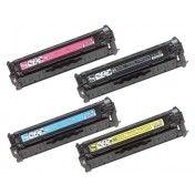 HP Color LaserJet CC530A, CC531A, CC532A, CC533A Set of Remanufactured Toner Cartridge Combo http://planettoner.com/