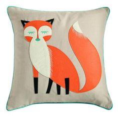 Felt Fox Cushion from Dunelm   FunkyInteriors.com