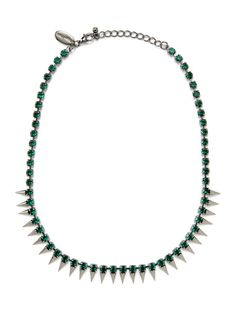 Cara Couture Jewelry Glass Bead Spike Necklace $39
