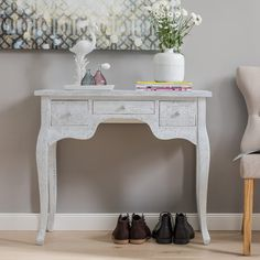 Found it at Wayfair.co.uk - Decorative Furniture Repousse 3 Drawer Dressing Table