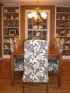 diy parson chair slipcover