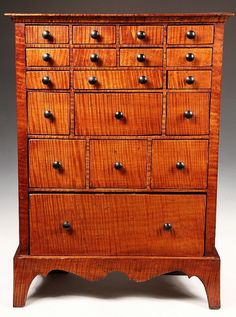 Tiger Maple Apothecary Cabinet Counter Woodworking Blueprints Projects Southern Furniture