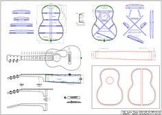 Size 5 guitar autocad plans