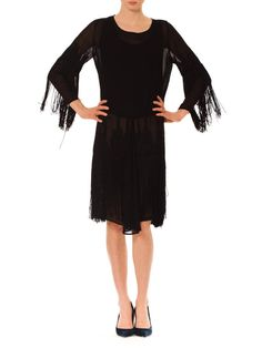 Vintage Fringed Silk Dress From The Roaring by MORPHEWCONCEPT