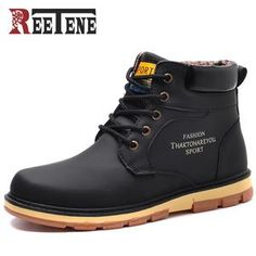 Glorious Urbanfind Men Boots Male Rubber Combat Ankle Work Safety Shoes Size 40-46 Autumn Winter Snow Boots Men Sneakers Men's Boots Basic Boots