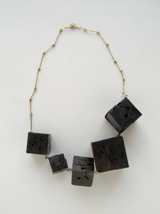 YU-CHUN CHEN-TAIWAN- necklace 2007-iron 14 ct gold
