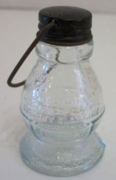 Victory Glass Candy Pellet Container Lantern Jeannette PA