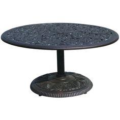 Darlee Series 80 Cast Aluminum Pedestal Patio Tea Table - Antique Bronze