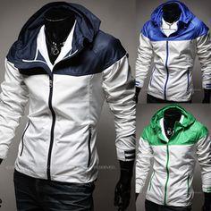 New Sport Trendy Men Windbreaker Jacket with Hood | Sneak Outfitters